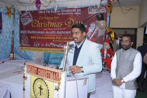 Hon'ble D.C. addressing the audience at MDD Bal Bhawan