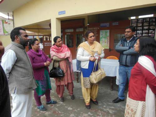 Visit of the Hon'ble Director WCD along with Administation
